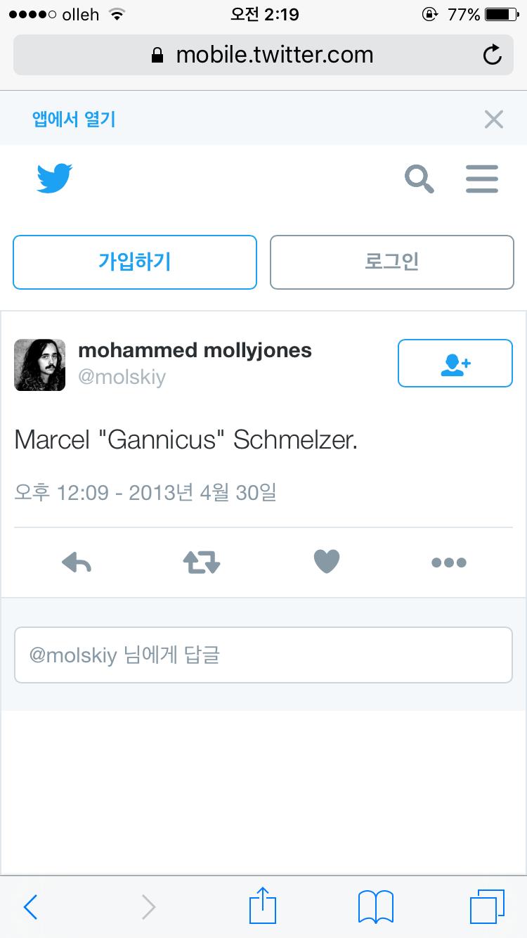 """마르셀 """"가니쿠스"""" 슈멜쳐"""