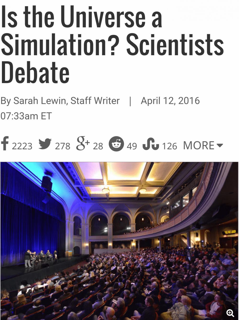 """14.png 과학자들: """"우주는 시뮬레이션,인간은 프로그램 코드"""""""