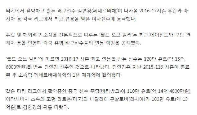 김연경 클라스
