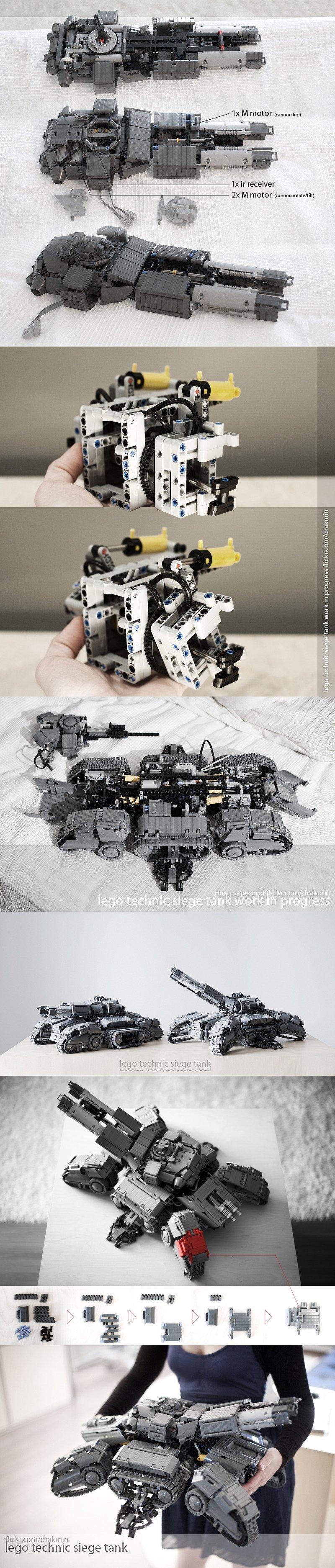 레고로 만든 시즈탱크