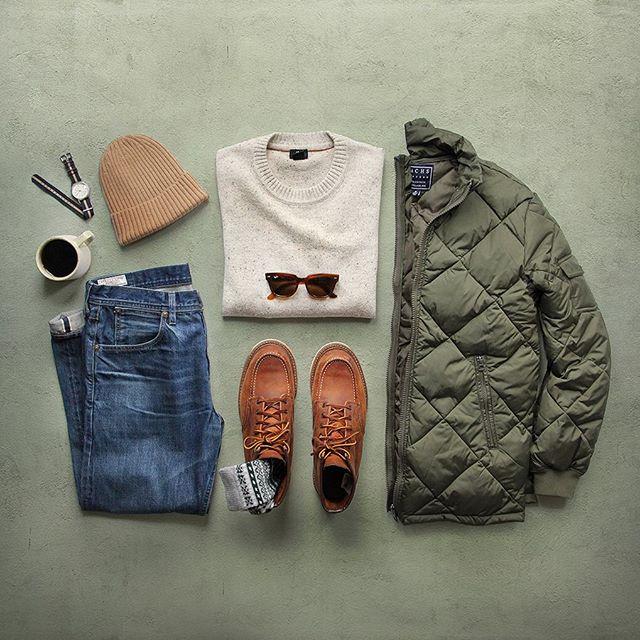 [유머] 남자 겨울코디 참고용 스크랩 -  와이드섬