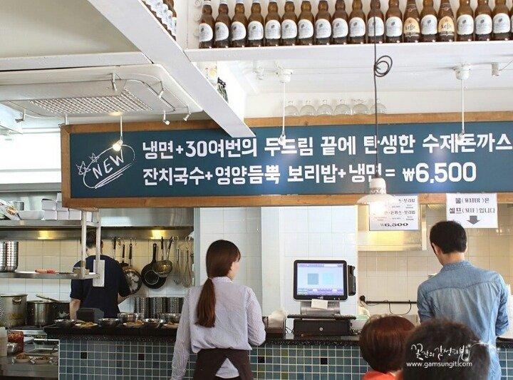 4.jpg 돈까스 냉면 보리밥=6500원