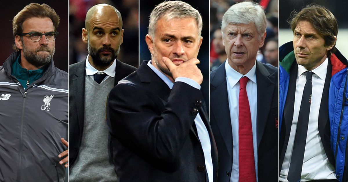 Klopp-Guardiola-Mourinho-Wenger-Conte.jpg [텔레그래프] 무리뉴 : 이번 시즌 맨유의 모든 경기를 이기고 싶다