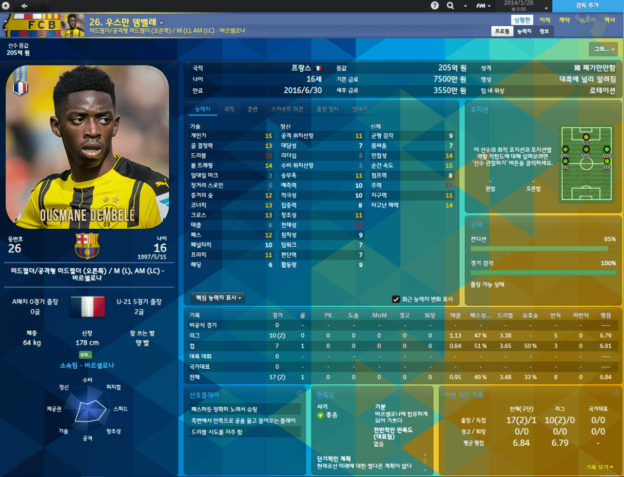 Dembele.PNG [14.3.1] Football Manager 2014 17-18 EU Transfer FMDONG ROSTER BETA v0.61