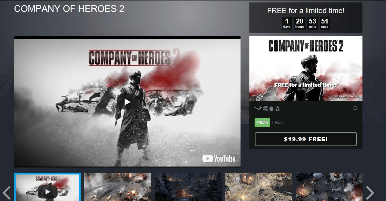 스팀 COMPANY OF HEROES 2 , Hitman Holyday Pack, Homefront 무료 - PC/콘솔 ...