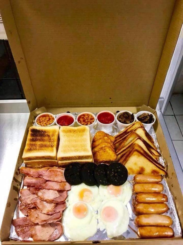 영국 아침식사 배달메뉴