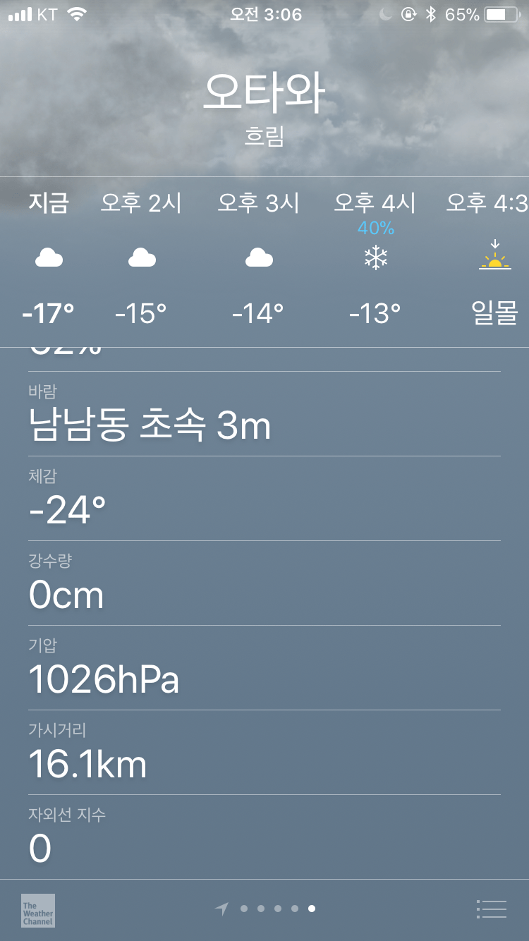 캐나다 수도 날씨 ㄷ