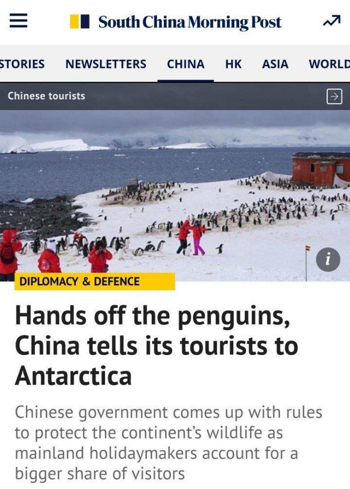중국인들 남극까지 점령 ㅎㄷㄷ