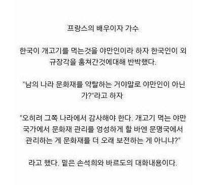 2.jpg 개고기를 먹는 한국인은 야만인이라고 매도하는 프랑스 가수 (feat. 손석희)