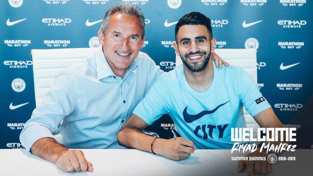 "mahrez_signing.jpg [공홈]마레즈""펩 지휘 하에 훌륭한 축구를 하는 시티에 합류하게 되어 기뻐요"""