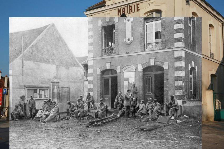 1차대전 당시 사진과 현재 사진
