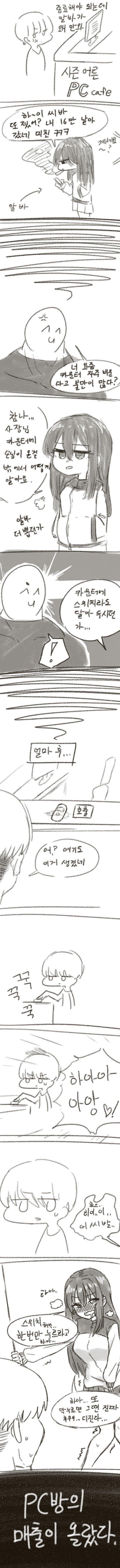 ㅇㅎ) 건방진 PC방 알바가 매출 올려주는 만화.manhwa