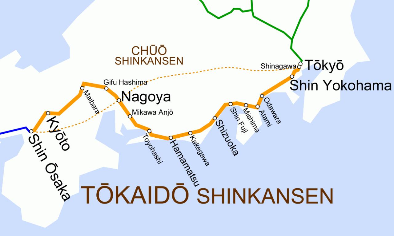 Tokaido_Shinkansen_map.png 신칸센 노선 하나로 매출 2위인 철도 회사
