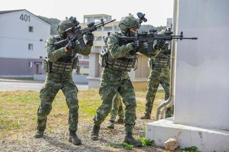 2.jpg 현재 시험중인 국군 신형 위장 패턴