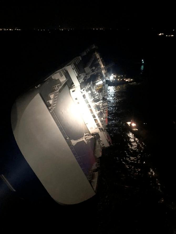 KakaoTalk_20190908_234826187.png 현대글로비스 차량운반선, 美조지아주 해상서 전도…구조작업중