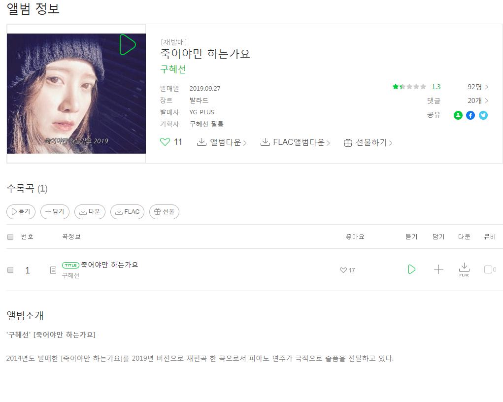 sdf.PNG.png 구혜선 신곡 멜론 평점 떴다...jpg