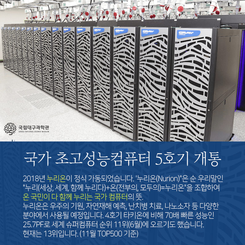 국내_슈퍼컴퓨터_5호기_누리온3.png 대한민국 PC 원탑 甲