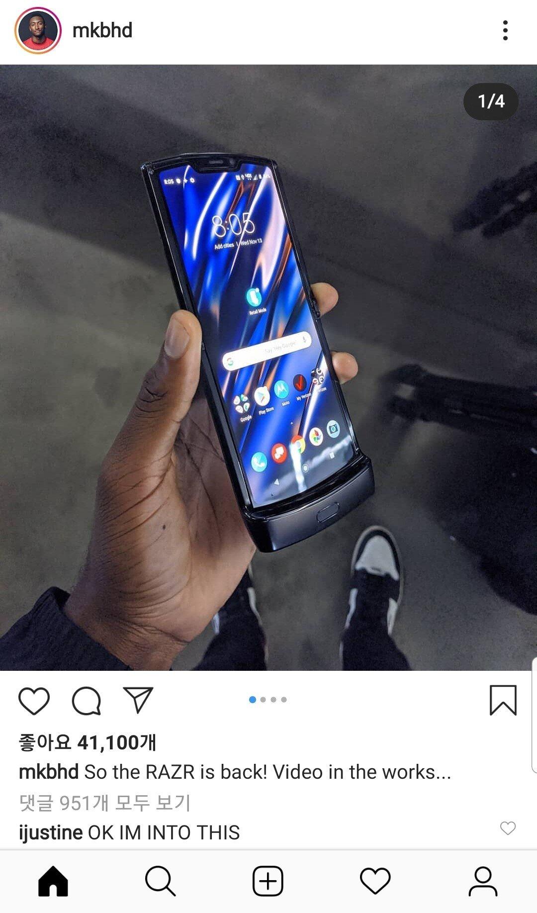Screenshot_20191114-135358_Instagram.jpg 모토로라 레이저 신모델 실물