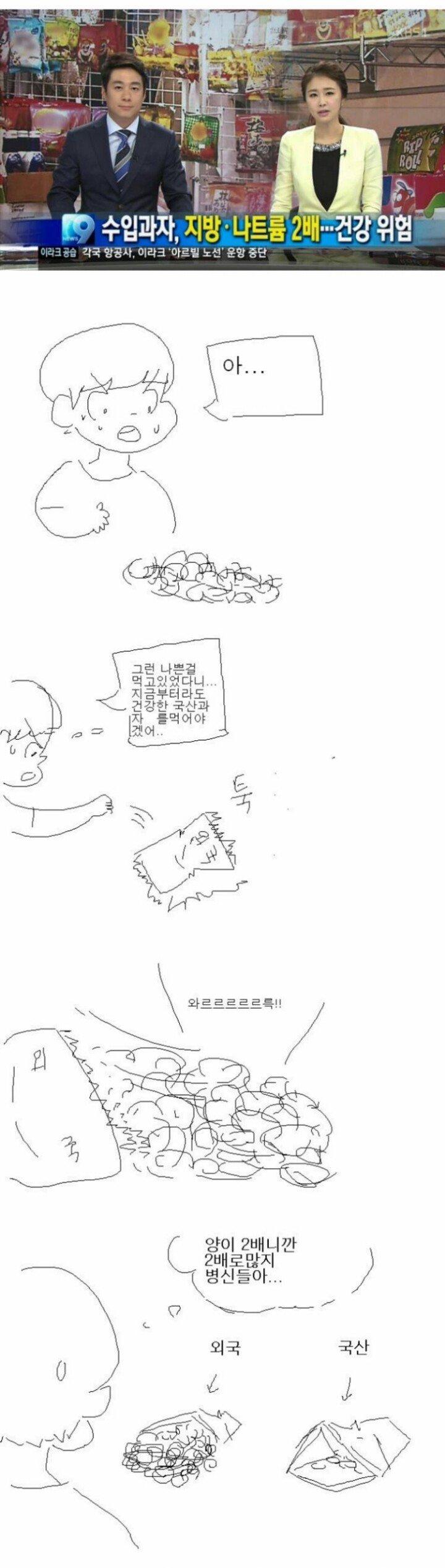 [유머] 한국과자보다 수입과자가 몸에 더 안좋았던 이유 -  와이드섬