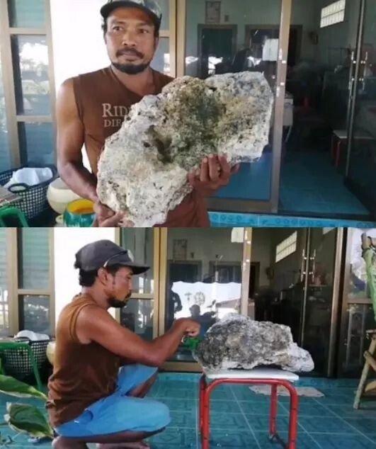태국 해안에서 쓰레기 줍던 닝겐이 획득한 황금
