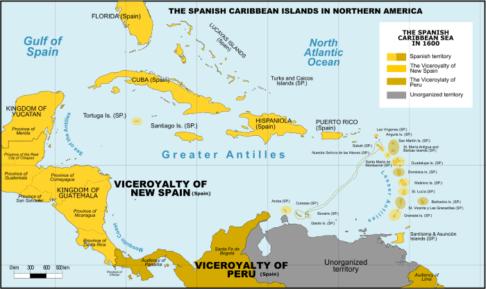 Spanish_Caribbean_Islands_in_the_American_Viceroyalties_1600.png 나라의 어원 찾기 05 - 과테말라편