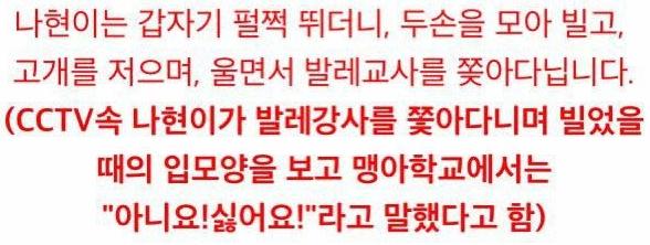 20200604_213755.png 불이 꺼지고 문이 닫힌 강당에서 갇혀 죽은 6살 나현이