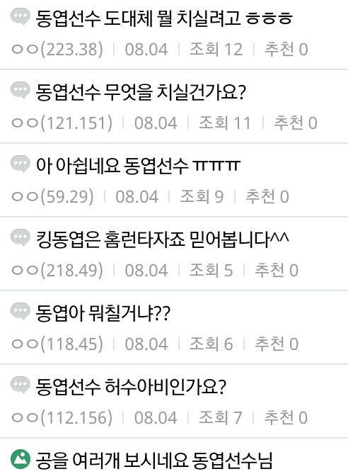 KakaoTalk_20200805_120542625.png 야구 선수 고소선언후 클린해진 디씨