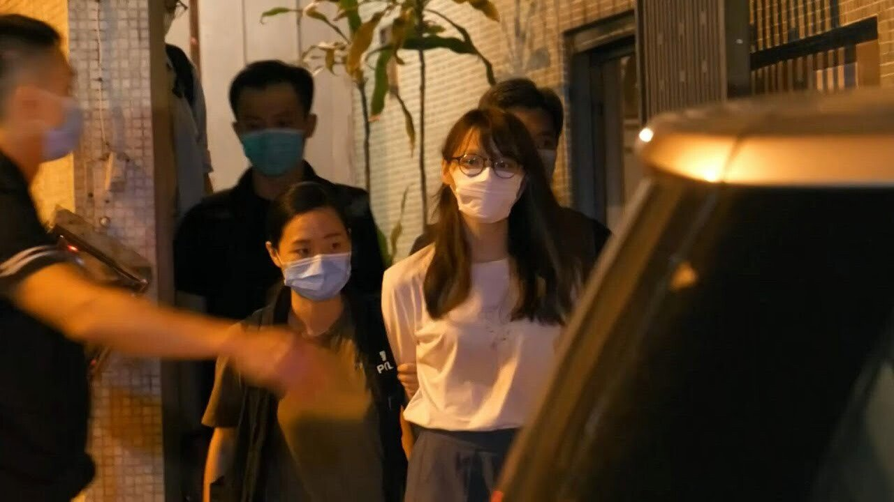 maxresdefault.jpg 홍콩 우산 혁명 주역, 민주화 운동가 아그네스 차우 자택에서 체포
