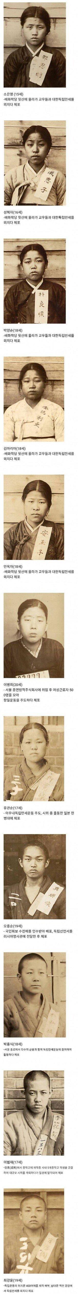 체포된 10대들 사진모음