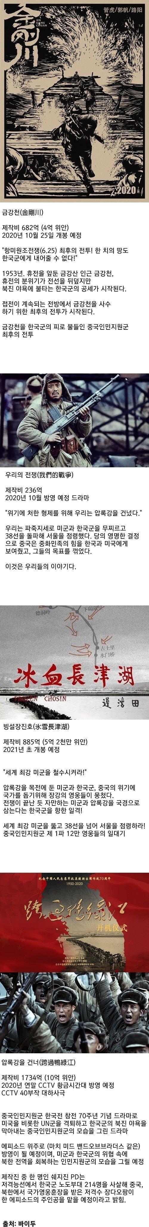 1600106278.jpg 중국이 개봉예정인 한국전쟁 영화들