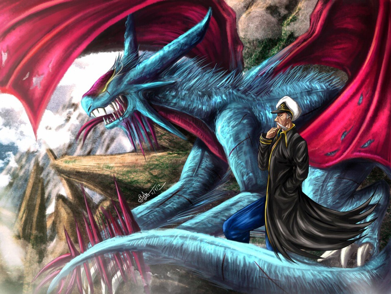 drake_and_salamence_by_beverii_d5eg60d-fullview.jpg 포켓몬스터 시리즈별 사천왕들을.ARABOZA