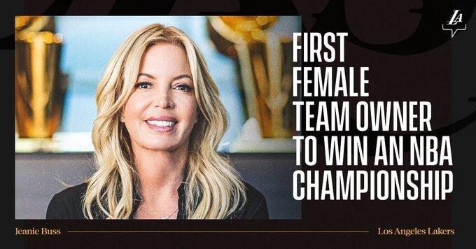 nba 역사상 처음으로 우승한 최초 여성구단주