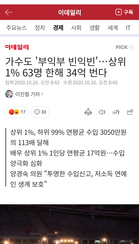 (국세청피셜) 한국가수 상위 1%, 평균주급 6500만원
