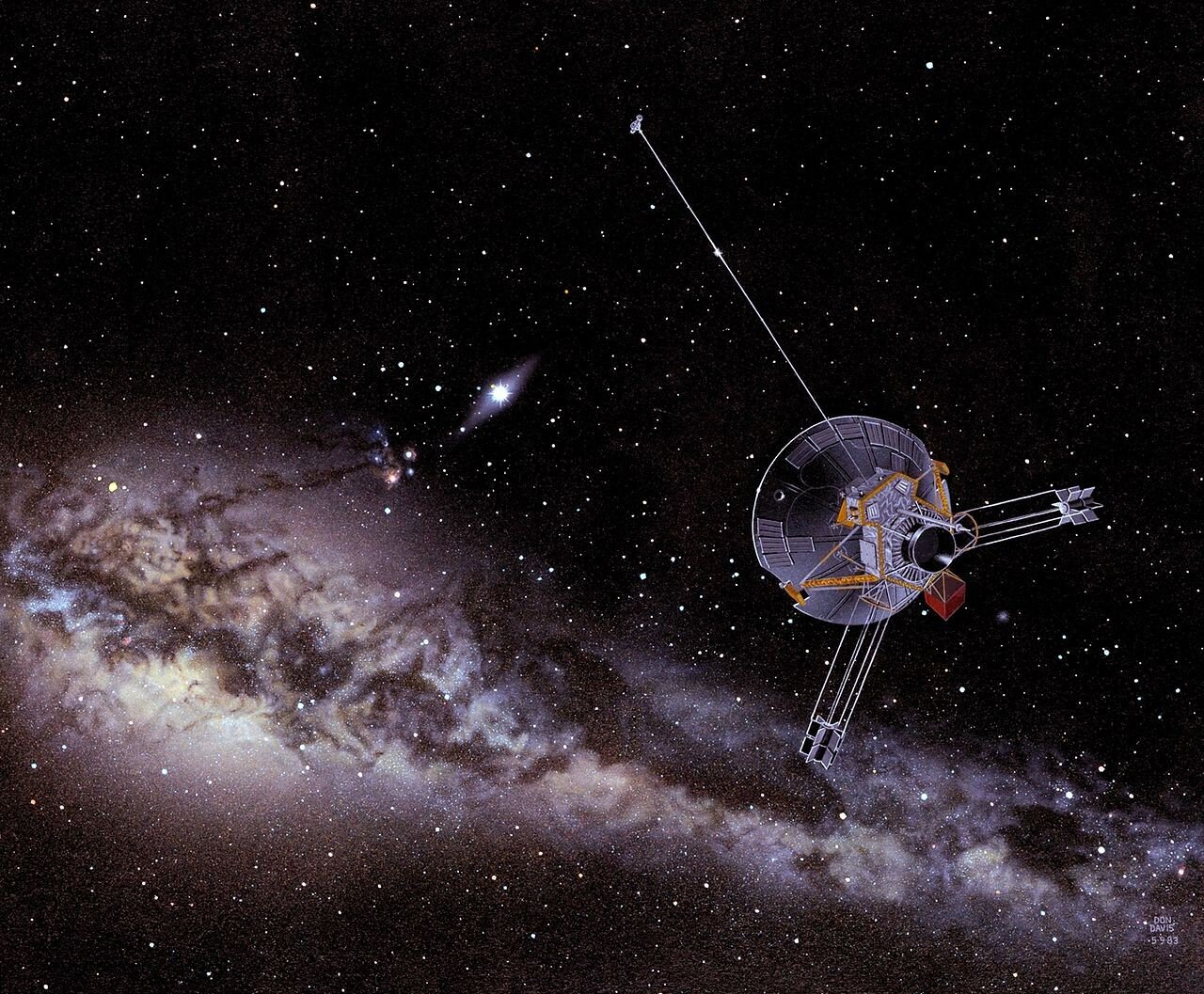 An_artist's_impression_of_a_Pioneer_spacecraft_on_its_way_to_interstellar_space (2).jpg 인류 우주탐사의 역사(1974~현재)