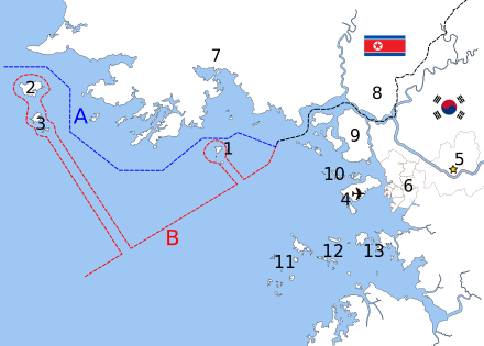 440px-Map_of_Korean_maritime_border.svg.png 간단하게 보는 1차연평해전
