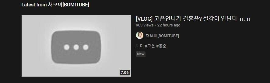 0.JPG 채보미 유투브 내려가기 시작함 ㅇㅇ