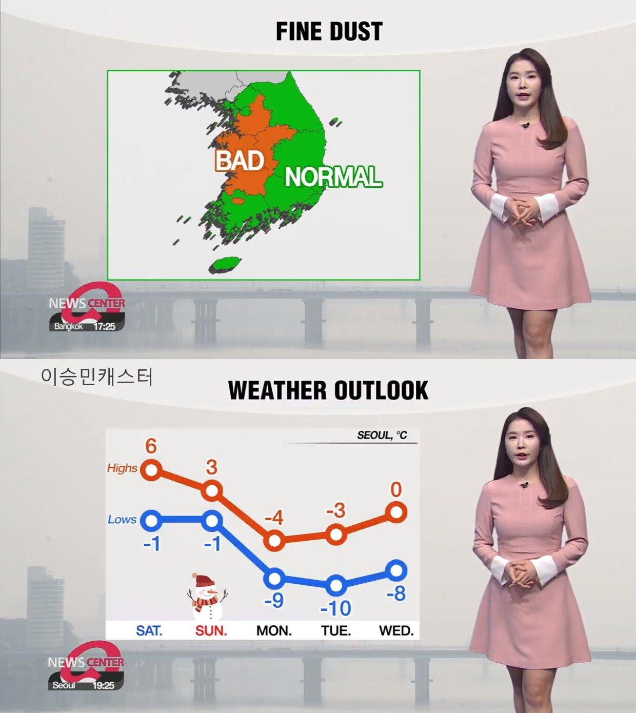 저녁03.jpg 내일, 전국 대부분 공기질 나쁨(일요일 전국 대부분 눈 또는 비)