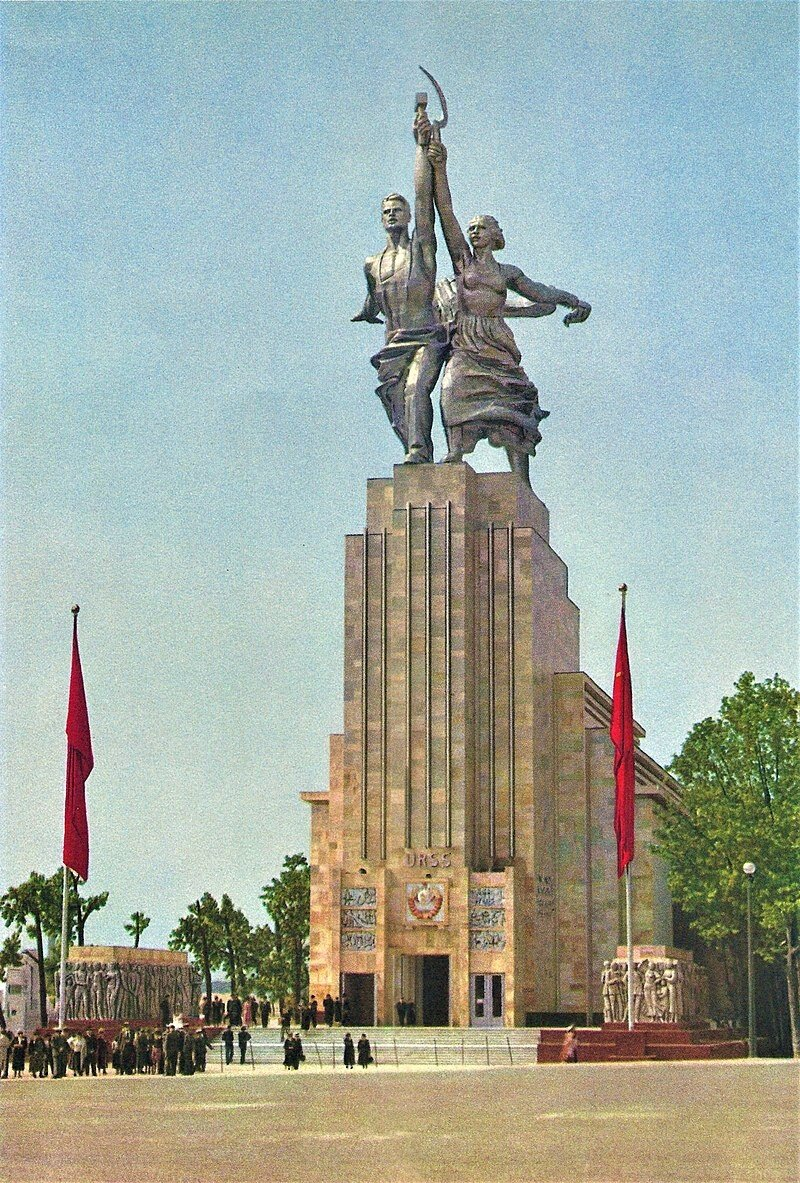 800px-Paris-expo-1937-pavillon_de_l'URSS-13.jpg 1937년에 벌어졌던 독소전쟁 리허설.jpg