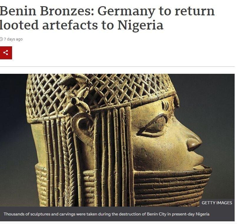 캡처.JPG 독일, 아프리카에서 훔친 유물 반환 결정