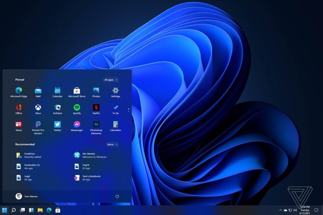 ui1.jpg 윈도우 11 유출 버전 인터페이스
