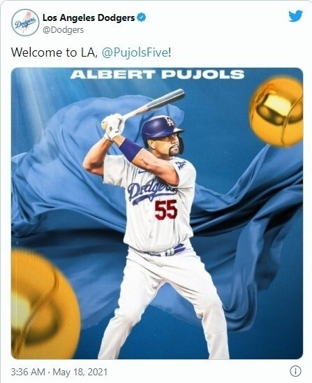 1624319811095.jpg 신의 한수라는 더 베이스볼 LA의 심장 알버트 푸홀스 영입 후 LA다저스 성적.JPG