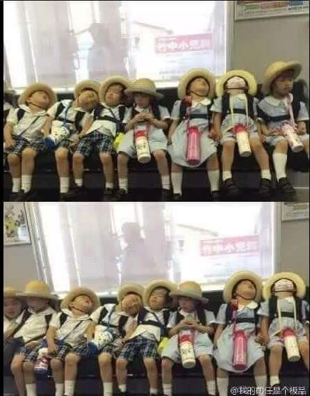 소풍 다녀온 유치원생들