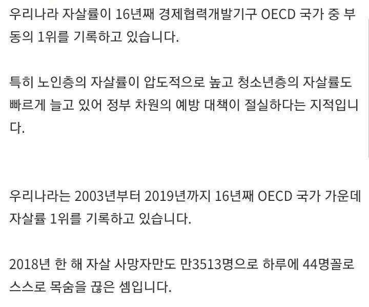 467ada2b5559a3a9388d7bc53d49108c_970709.jpg 한국인 하루 44명 꼴로 자살.. 16년째 1위