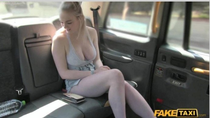 image Female fake taxi drivers dildo results in squirting lesbian