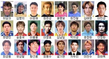 2002월드컵 멤버.jpg 2002월드컵때 한국축구가 인기많았던 결정적 이유 .jpg